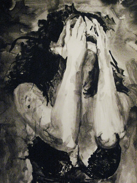 Painting in india ink named Tears of Love