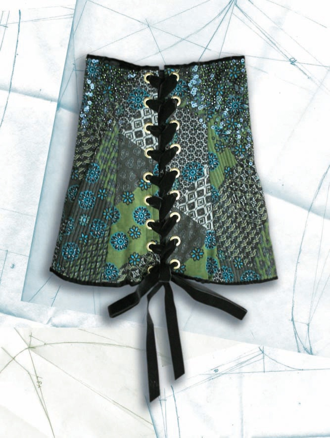 Costume made out of velvet fabric named Corset