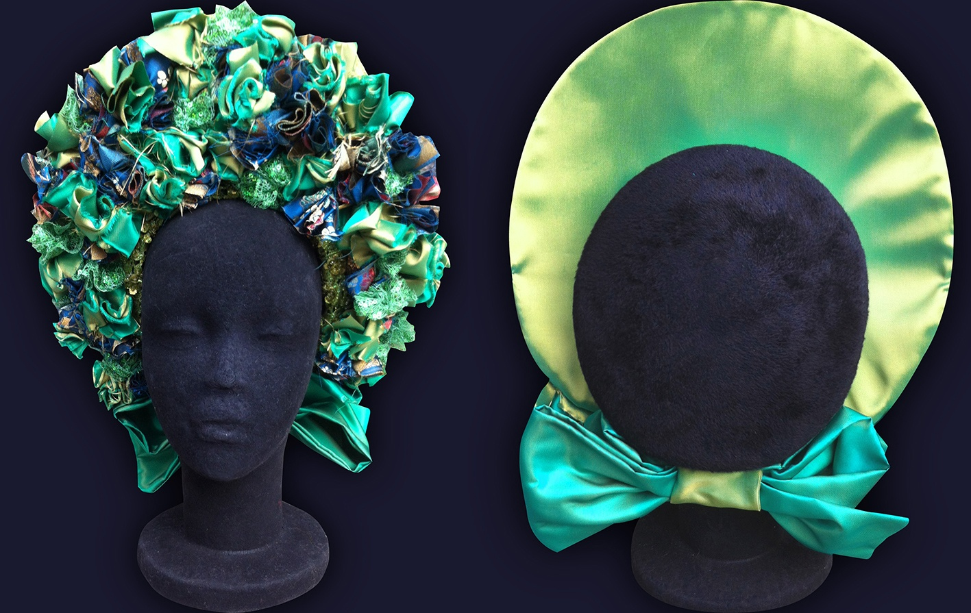 Ethnic hat made out of taffeta fabric